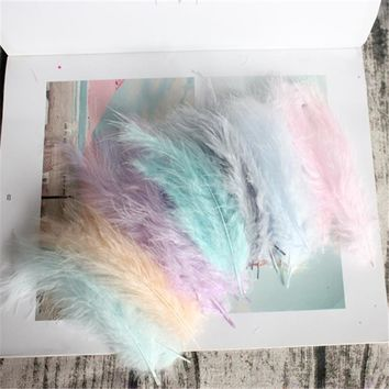 50pcs Turkey Feathers 4-6 Inches 10-15cm Chicken Plumes Turkey Marabou Feathers for Carnival Halloween Christmas DIY Craft Decor