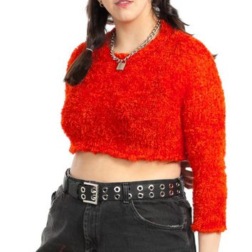 Vintage 90's Cher-ry Red Sweater - XL