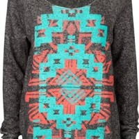 FULL TILT Navajo Screen Womens Sweatshirt:Amazon:Clothing