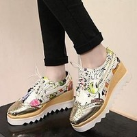 Women's Lace Up Platform Gothic Pumps Casual Oxfords Creepers Sneakers Shoes 152