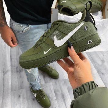 Nike Air Force 1 No.1 Men s Leisure Shoes of the Army Green Air 1d2edeb10