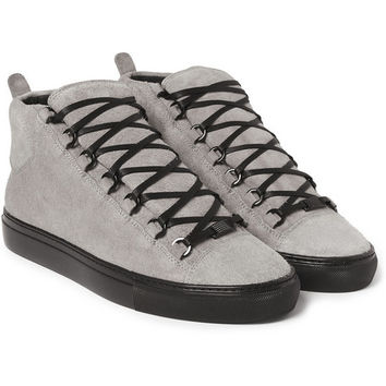 Balenciaga - Arena Suede High Top Sneakers | MR PORTER