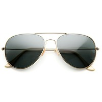 Standard Classic Tear Drop Military Metal Aviator Sunglasses 56mm 8841