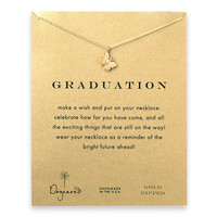 graduation monarch butterfly necklace, gold dipped