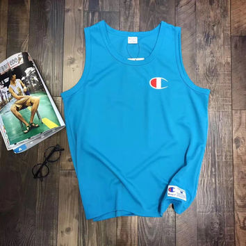 Champion print sleeveless vest top  H-RELAX-XS