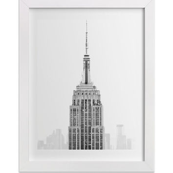 New York Photography, Black and White Minimalist Print of Empire State Building, Contemporary Architecture Art, Large Wall Art, NYC Print