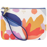 Fossil Item Printed Leather Wristlet