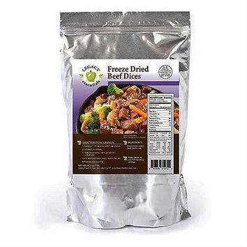 100% USDA Freeze Dried Beef- Legacy Premium Long Term Food Storage Meals Camping