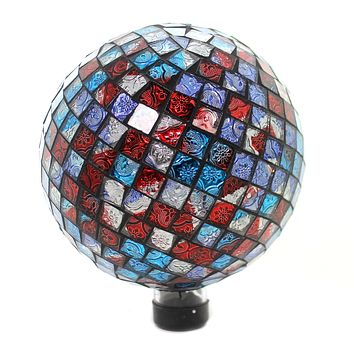 Home & Garden RED BLUE SHIMMER GAZING BALL Glass Yard Decoration Summer 65809