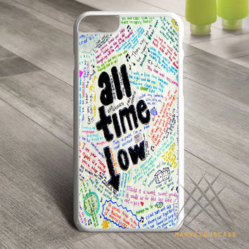 All Time Low Lyrics Custom case for iPhone, iPod and iPad