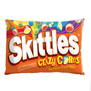 Skittles Candy Custom Pillow Case. Choose the option for size