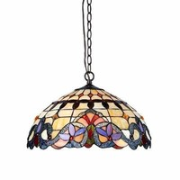Stylish Handcrafted Multihued Victorian Ceiling Pendant by
