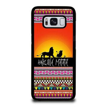 HAKUNA MATATA LION KING SUNSET AZTEC Samsung Galaxy S8 Case Cover