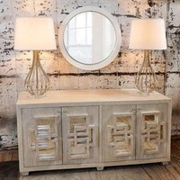 Worlds Away Crosby Entertainment Console In Limed Oak - Worlds-away-crosby-lio  | Candelabra, Inc.