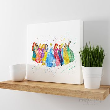 Disney Princesses Gallery Wrapped Canvas 2