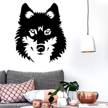 Vinyl Decal Wolf Beautiful Animal Zoo Tribal Art Mural Wall Stickers Unique Gift (ig047)