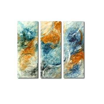 """'Bubbles in the sky' - 36"""" X 36"""" Original Abstract  Art. Free-shipping within USA & 30 day return Policy."""
