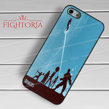 The Avengers blue poster - zDzD for  iPhone 6S case, iPhone 5s case, iPhone 6 case, iPhone 4S, Samsung S6 Edge