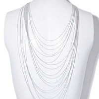 Waterfall multi row necklace
