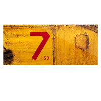 "Steve Dix ""7S3"" Yellow Painting Luxe Rectangle Panel"