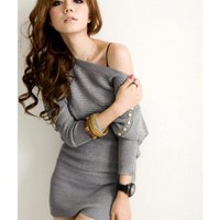 FREE SHIPPING Grey Women/Girl Kniting Top from DressLoves