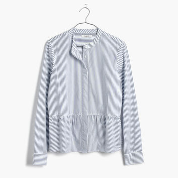 Lakeside Peplum Shirt in Stripe : shopmadewell AllProducts | Madewell