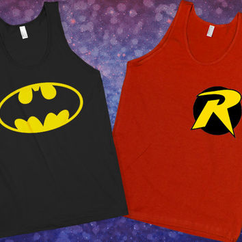 Batman & Robin Best Friend Tanks | lookhuman.com