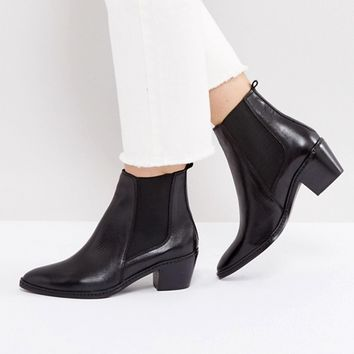 H by Hudson Leather Ankle Boots at asos.com