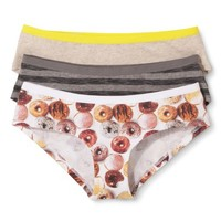 Junior's Donut Print Hipsters 3-Pack