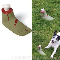 Zombie Foot Squeaker Fetch Toy
