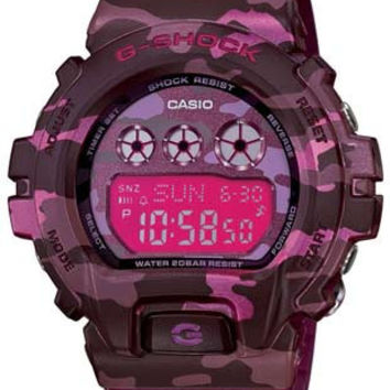 Casio Womens G-Shock S Series - Pink Dial - Pink Camo Resin Case and Strap