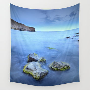 """Blue sunset"". Cabo de Gata Natural Park Wall Tapestry by Guido Montañés"