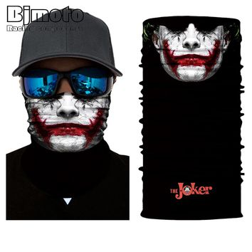 2018 New BJMOTO Tactical Black Skull Face Shield Sun Mask Balaclava Neck Gaiter