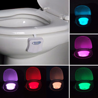 Smart Bathroom Toilet Nightlight LED Body Motion Activated Seat Sensor Lamp