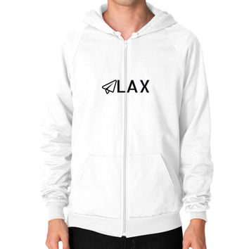 LAX Zip Hoodie (on man)