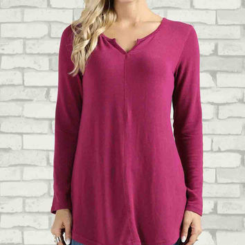 Orchid Notch Neck Tunic - Plus Too