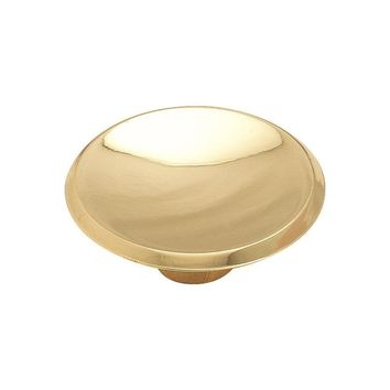 Amerock Allison Value Transitional Polished Brass Round Cabinet Knob