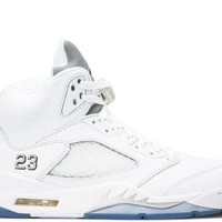 DCCK Air Jordan 5 ' White Metallic Silver'