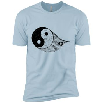 Gothic Yin-Yang, Sky, Mountains And Parchment Boys' Cotton T-Shirt