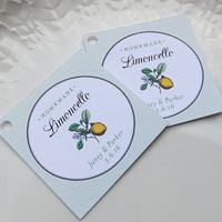 Limoncello tag,  Wedding Favor Tags, Limoncello Label, Personalized Label, Custom Tag, Product Label - Set of 20