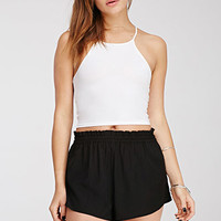 High-Waisted Woven Shorts