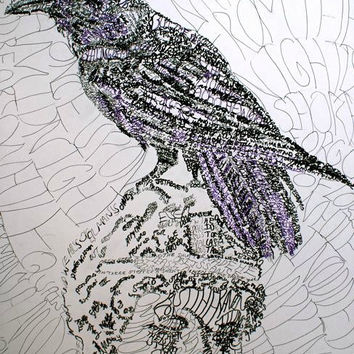 """Pre-Order """"The Raven"""" Art Print signed & numbered by D. Renée Wilson"""