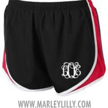 Monogrammed Running Athletic Shorts | Personalized Gym Wear | Marley Lilly