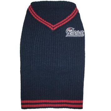 ONETOW New England Patriots Pet Sweater LG