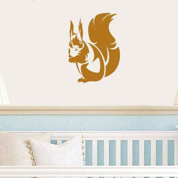 Squirrel wall decal, squirrel stickers, nursery wall stickers, outdoor stickers, boy stickers, girl wall decals, nursery wall decor /i77