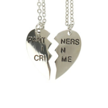 LOVEsick Partners In Crime Best Friend Necklace Set