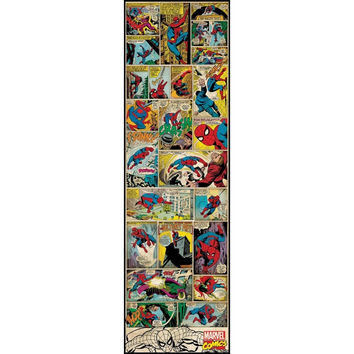 Spiderman Classic Comic Book Wall Panel Decal
