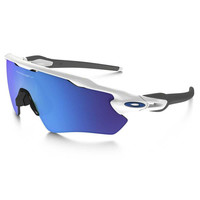 Oakley Polished White/Saphlrd Radar EV Path Sunglasses