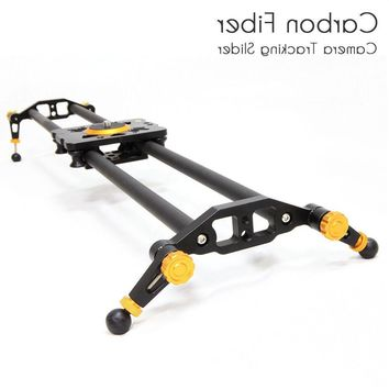"31"" 80cm Carbon Fiber Dslr Camera Slider Rail Track Dolly Video Stabilization"