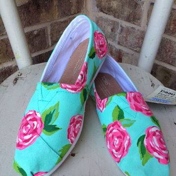 Lilly Pulitzer Roses TOMS by brushandbow on Etsy